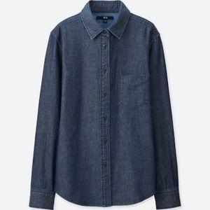Uniqlo Denim Long Sleeves Button Down Shirt
